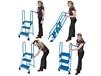 STEEL AND ALUMINUM LOCK-N-STOCK FOLDING LADDER